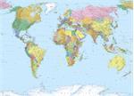 Wereldkaart fotobehang behang * Muurdeco4kids