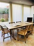 Hans Wegner Deens eetkamerstoelen 6 st. met tafel