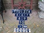 Emaille huisnummer huisnummers bordje bordjes
