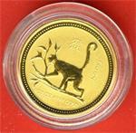 Australië - 5 Dollar 2004 \Year of the Monkey\ - 1/20 OZ -