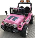 Jeep Wrangler look 4x4 jeep 12v roze