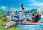 Playmobil Dinos 9433 Luchtkussenboot met dinokooi