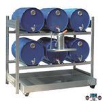 Vloeistof opvang en afgifte rek 6 x 60L AFP 1350/1