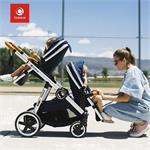 DuetPro Kinderwagen voor 1, of 2 kinderen - Blauw