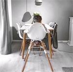 Evolu high chair kinderstoel 2 in 1. Naturel-Wit