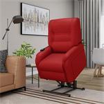 vidaXL Massagefauteuil elektrisch sta-op-stoel kunstleer roo