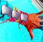 ByNass Ibiza silk wrap bracelet elephant