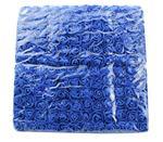Actie Mini foamrose met tule Koningsblauw BULK pak 144 st 2