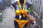 yoha boa strepless bikini gekleurd maat M