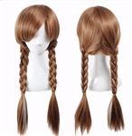 Frozen 2 Anna Pruik met lange vlechtjes en elastisch haarnet