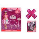 Accessoireset 7-delig blauw - roze
