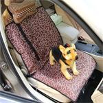 Antislip opvouwbare auto voorstoel patroonhoes huisdier kat