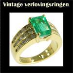 Gouden vintage Kutchinsky verlovingsring