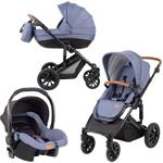 FreeON Kinderwagen Comfort 3 in 1 Blauw (incl. autostoel)