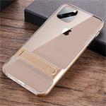 For iPhone 11 Crystal Shockproof TPU + PC Case with Holder(G