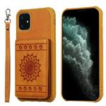 For iPhone 11 Sunflower Embossing Pattern PU + TPU Case with
