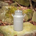 Grijs metalen pot - Melk kan in landhuis-stijl