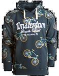 Fox Originals Amsterdam Bike Patern Heren Hoodie Maat L