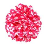 Haarbloem fel roze met witte stippen
