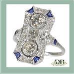 Diamanten vintage verlovingsringen