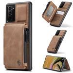 CASEME Samsung Galaxy Note 20 Back Cover Wallet Hoesje - Bru