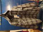 HTR Thermohemd met capuchon, blauw geruit, maat XL 10st
