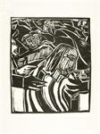 Houtsnede De gevangenneming, Rudi Seidel, 1984
