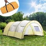 XXL camping tent waterdicht 4-6 personen tunneltent beige