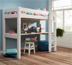 Nova Mono hoogslaper met bureau en rechte ladder