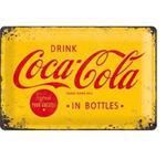 Drink Coca-Cola in bottles reclamebord