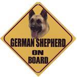 Autobordje Duitse herder on board