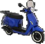 BTC Riva Luxury (E5)  (Candy Blue) bij Central Scooters kope