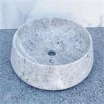 Ronde waskom marmer grijs Tundra Grey