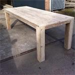 Tafels van steigerhout op maat gemaakt