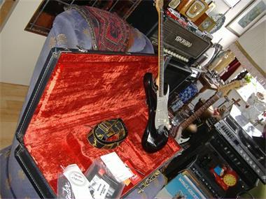 Grote foto fender usa de lux kofffer muziek en instrumenten gitaren akoestisch