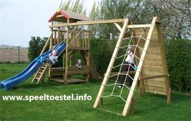 Grote foto speelhuisje speeltoren speeltoestellen kinderen en baby los speelgoed
