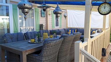 Grote foto mobilhomes te huur aan het strand frankrijk vakantie frankrijk