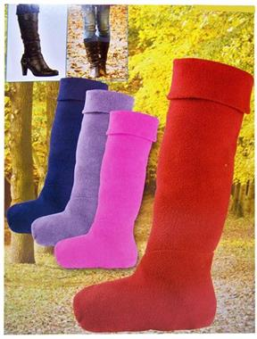 Grote foto fleece sokken voor in laarzen kleding dames sokken en kousen