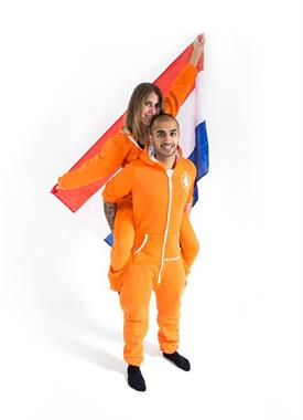 Grote foto kingsdayspecial oranjedutchonesie maat s m l kleding dames verkleedkleding