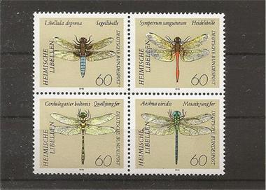 Grote foto blok met libelln verzamelen postzegels duitsland