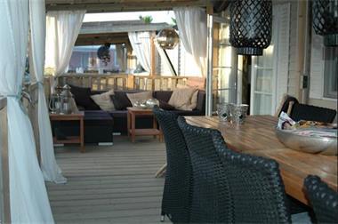 Grote foto stacaravan te huur in frankrijk aan het strand. vakantie frankrijk