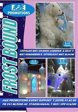 Grote foto ijsdecoratie huren levensgrote ijsberen 0599416200 diversen versiering