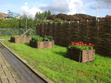 Grote foto natuurlijke schutting wilgentenen schutting tuin en terras hekken en schuttingen