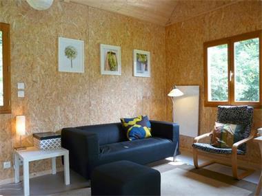 Grote foto heerlijke houten huizen bij meer in de morvan vakantie frankrijk