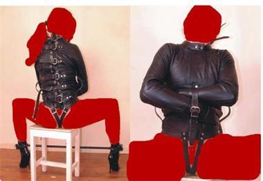 Grote foto zwart lichaam bondage harnas erotiek bondage harnas