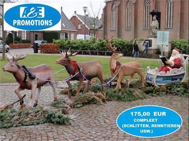 Grote foto slede met kerstman verhuur eindhoven 0599416200 diversen overige