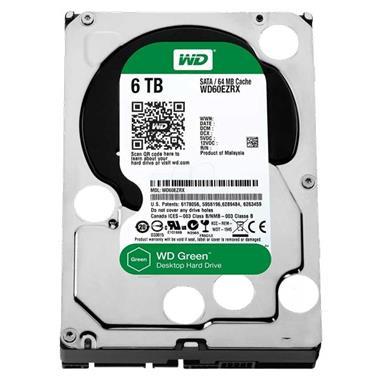 Grote foto 6.0tb wd green harde schijf met 3.5 inch sata computers en software harde schijven