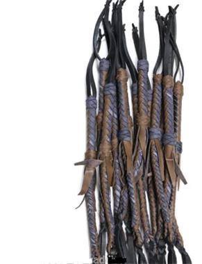 Grote foto leather braided quirt or whip erotiek zwepen en paddles