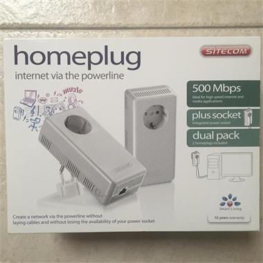 Grote foto sitecom homeplug 500 mbps netwerk kit computers en software netwerkkaarten routers en switches