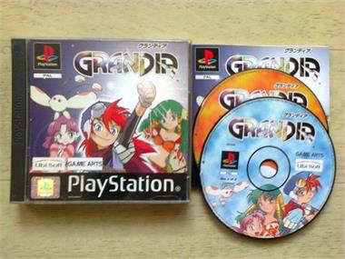 Grote foto ps1 rpg grandia spelcomputers games playstation